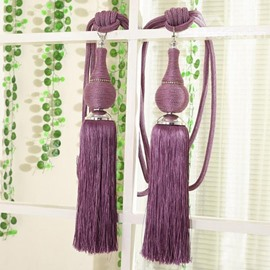 Romantic Purple Decorative Curtain Tiebacks