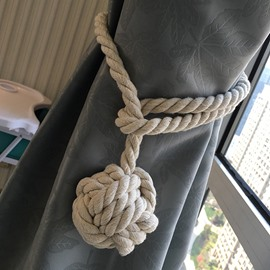 Decorative Pure Manual Weaving Cotton Rope Curtain Tiebacks