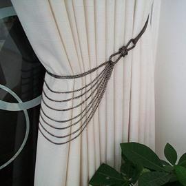 Chic Iron Chain Decorative Curtain Tiebacks 1 Pair