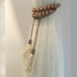 Classical Golden Beads Fashion Curtain Tiebacks