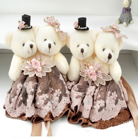 Creative Plush Cartoon Bear European Classical One Pair Curtain Buckles Tie Backs