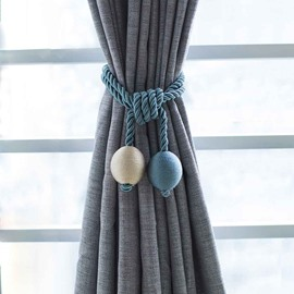 A Pair of Polyester 2-Ball Decorative Curtain Tie Backs