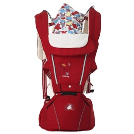 Multi-Function Elephant Embroidered 100% Air Mash 3D Material Baby Sling Carrier