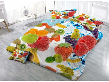 Fruit Pie Cotton Luxury 3D Printed 4-Pieces Bedding Sets/Duvet Covers