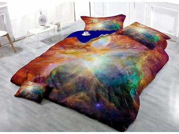 Galaxy Wear-resistant Breathable High Quality 60s Cotton 4-Piece 3D Bedding Sets