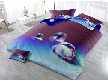 3D Colorful Pearl Printed Cotton 4-Piece Bedding Sets/Duvet Covers