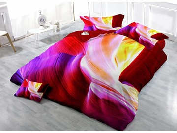 3D Colorful Cave Digital Printing Cotton 4-Piece Bedding Sets/Duvet Covers