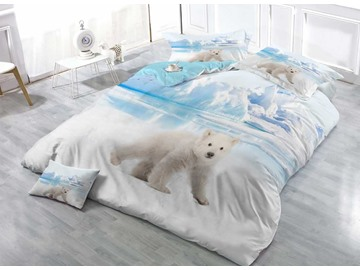 Baby Polar Bear Digital Printing Cotton 4-Piece Bedding Sets/Duvet Covers