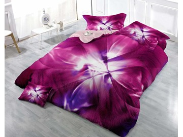 3D Petal Printed Vintage Dream Cottony 4-Piece Bedding Sets/Duvet Cover
