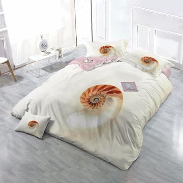 Sea Conch Wear-resistant Breathable High Quality 60s Cotton 4-Piece 3D Bedding Sets