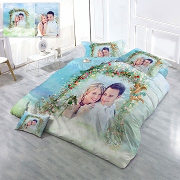 Happy Family Picture Custom-made Design Wear-resistant Breathable High Quality 60s Cotton 4-Piece 3D Bedding Sets