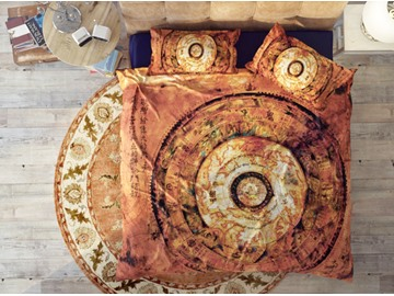 The Yellow Astrolabe Soft Cotton 4-Piece 3D High Quality Bedding Sets