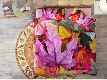 Colorful Maple Leaves Soft Cotton 4-Piece High Quality 3D Bedding Sets