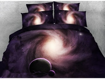 Amazing Galaxy Digital Printing 5-Piece Comforter Sets