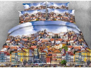 Prosperous Metropolis 3D Print 5-Piece Comforter Sets