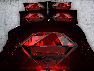 Shining Big Diamond Print 5-Piece Comforter Sets