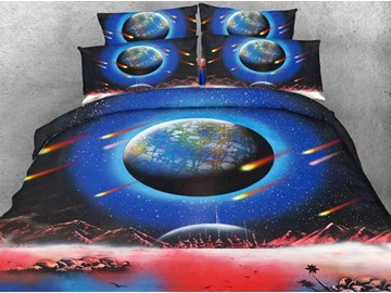 Beautiful Earth and Space Print 5-Piece Comforter Sets