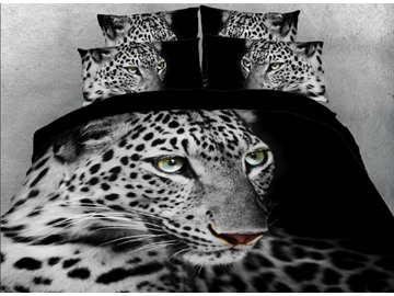 Vivilinen 3D Wild Leopard Printed 5-Piece Comforter Sets