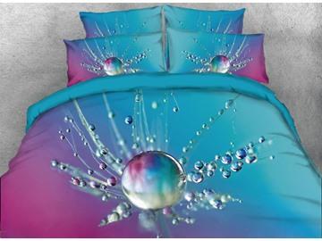 Vivilinen 3D Raindrop Dandelion Printed 5-Piece Comforter Sets