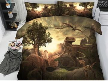 Jurassic World Theme Dinosaurs 3D Printing 5-Piece Comforter Set / Bedding Set