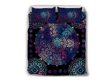 Paisley Bohemian Style Dark Purple Pattern 5-Piece Comforter Sets