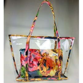 Trendy Yellow Color Joint Transparent Shoulder Bag