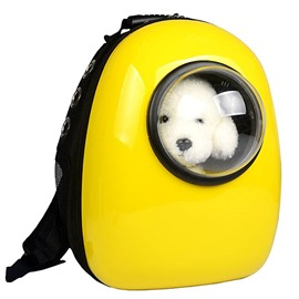 Cool Space Yellow Breathable Acrylic Shoulder Bag Pet Carrier