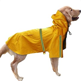 Large Dog Raincoat Adjustable Pet Water Proof Clothes Lightweight