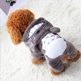 Grey Cartoon Shape XS-XXL Cute Custom Puppy Dog Cat Cloth