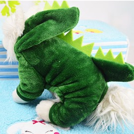 Dinosaur Shape Green XS-XXL Cute Custom Puppy Dog Cat Cloth