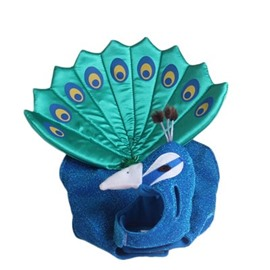 Adorable Blue Peacock Cat Dog Costume Cloth Halloween Gift