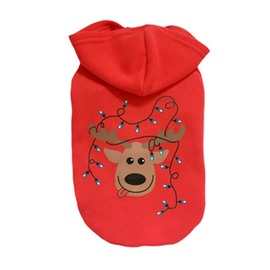 Pet Dog Christmas Holiday Sweater Deer Pattern Clothes for Small Dogs