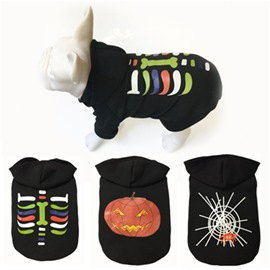 Halloween Costume Cute Puppy Skull Spider Wet Pattern Cloth