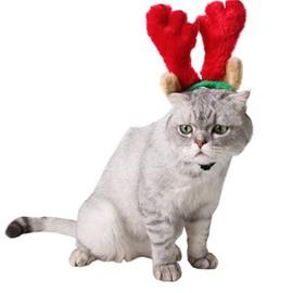 Cute Cat Dog Christmas Santa Decor Antlers Shape