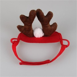 Holiday Antler Headband Pet Dog Cat Hat Christmas Cosplay Costume