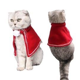 Christmas Pet Costumes Red Velvet Cloak for Small Dogs and Cats