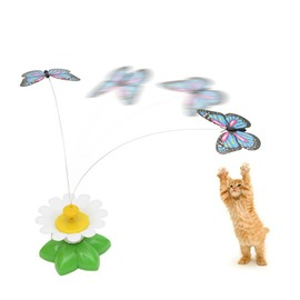 Pet Cat Electric Rotating Butterfly Kitten Playing Whirling Wiggler Fly