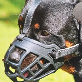 Soft Silicone Muzzles-Adjustable Breathable Biting Chewing Barking Training Dog face shield