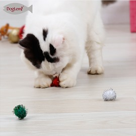 Merry Christmas Cat Ball Kitten Cat Gift Toys 3pcs included