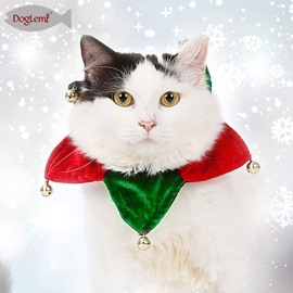 Pet Bell Triangle Scarf Christmas Gift Neck Collar