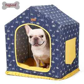 Pet House Washable Canvas Four Seasons Kennel Dog Bed