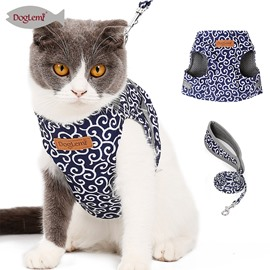 Japanese Style Cat Vest Clothes Prevent Gets Loose Leash Chest Strap