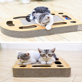 Prevent Scratching Wood Entertaining Cat Gift Activity Center
