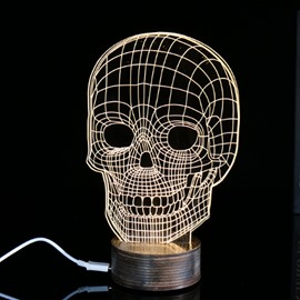 Creative Halloween Decoration Skull Pattern LED Light