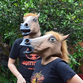 Brown Horse Design Funny Cosplay and Party Prop face shield
