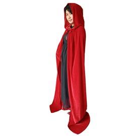 Adult Women's Satin Cloak Cape Black/Purple/Red