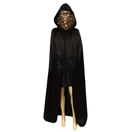 Adult Women's Satin Cloak Cape Black/Purple