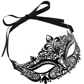 Masquerade face shield Shiny Metal Pretty Party Evening Prom face shield