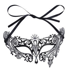 Mardi Gras Masquerade Mask Shiny Metal Halloween Party