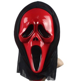 Halloween Party Cosplay Red Horror Grimace face shield